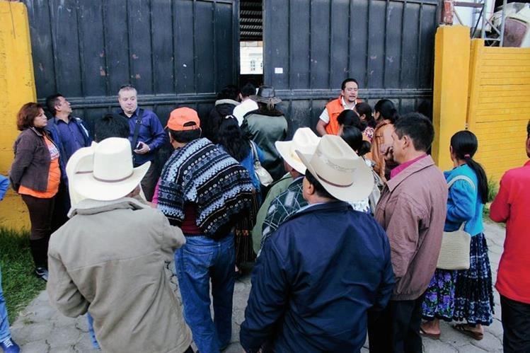 Salón donde se efectuó la actividad privada del PP, en Quetzaltenango. (Foto Prensa Libre: Carlos Ventura)