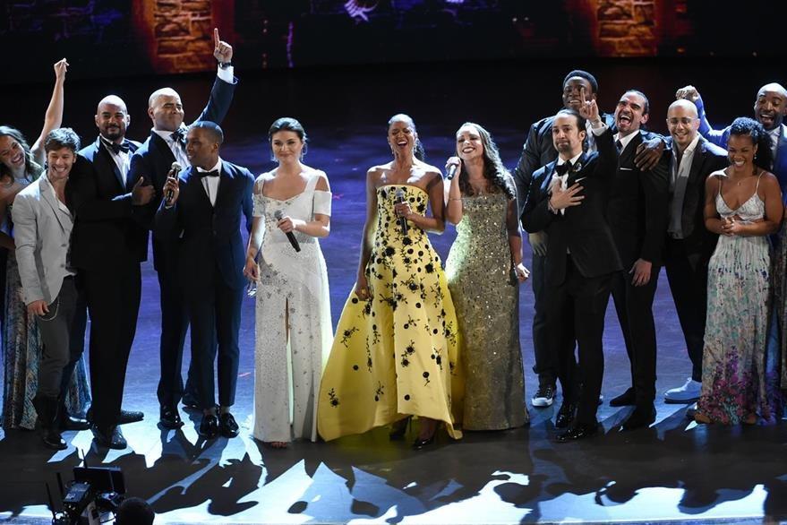 El elenco de Hamilton celebró cada galardón ganado. (Foto Prensa Libre: AP)