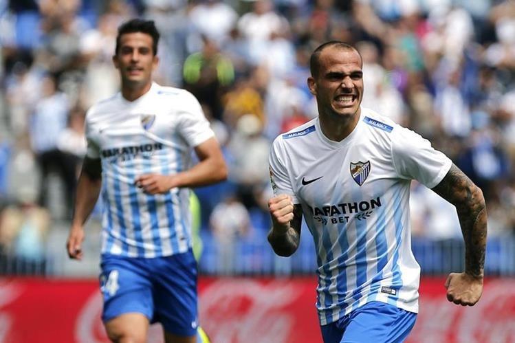 Sandro celebra efusivamente su gol de esta tarde frente al Valencia. (Foto Prensa Libre: EFE)