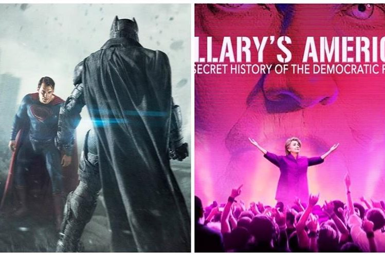 """Batman vs Superman"" y un documental que critica a Hillary Clinton fueron los ganadores de los premios antióscar."