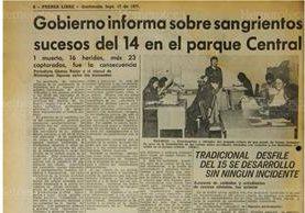 17/9/1977 Disturbios en celebración de las fiestas patrias deja 1 muerto, 16 capturados y 23 heridos. (Foto: Hemeroteca PL)