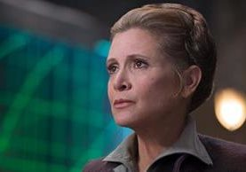 "Carrie Fisher como Leia en ""The Force Awakens"", el episodio siete de Star Wars (Foto Prensa Libre: archivo)."