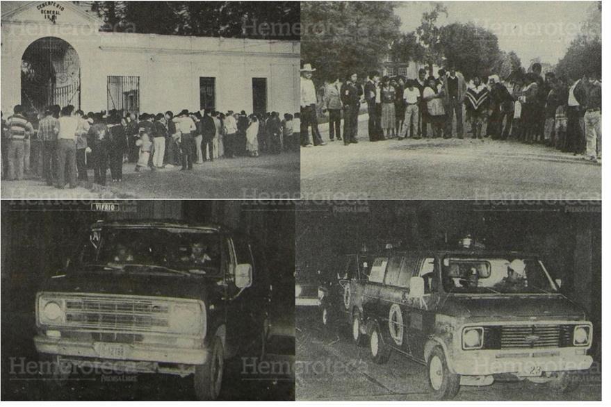 Familiares amigos y curiosos llegaron al Cementerio General  donde los sentenciados fueron fusilados. 03/02/1983. (Foto: Hemeroteca PL)