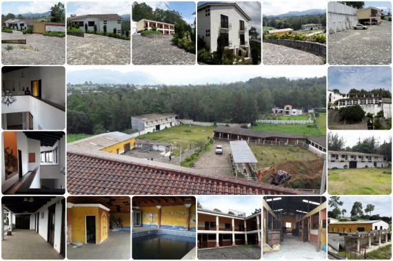 La finca tenía más de siete mil metros cuadrados de extensión territorial y contaba con varias edificaciones. (Foto Prensa Libre: MP)