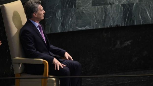Macri, que esta semana habló en la ONU, ha impulsado una polémica política de mano firme contra la inseguridad. AFP