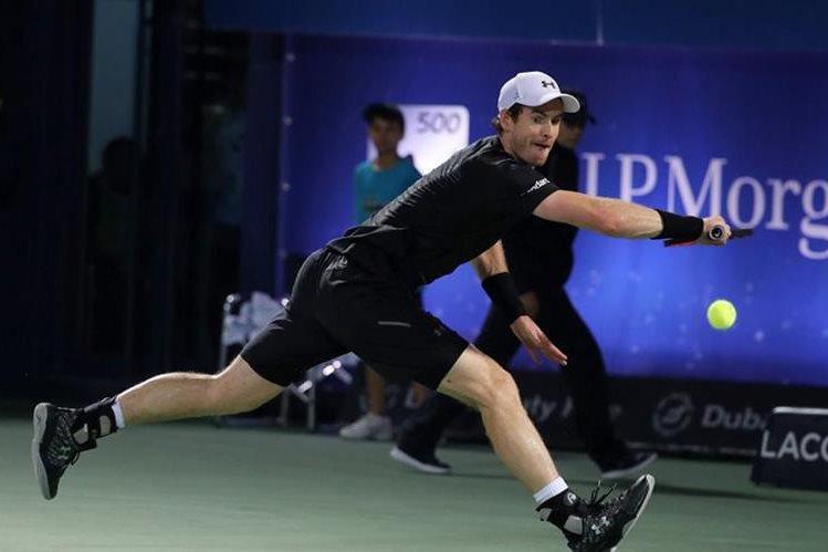 Andy Murray peleará la final contra Fernando Verdasco en busca de su primer título de la temporada. (Foto Prensa Libre: AFP)