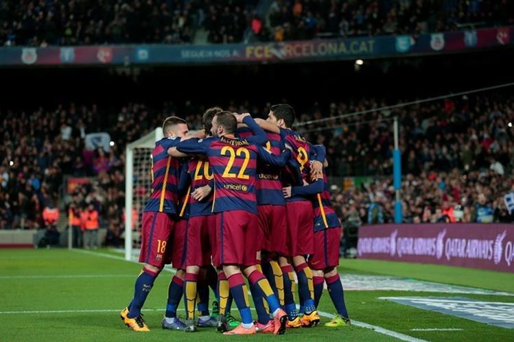 El Barcelona no se despega de la cima de la tabla de clasificación. (Foto Prensa Libre: AP)