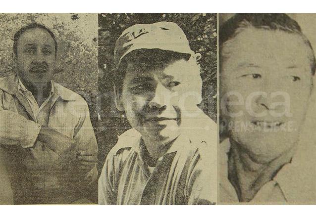 Carlos Paz, Marco Antonio Yon Sosa y Arturo Chur del Cid se sublevaron el 13 de noviembre de 1960 contra el presidente Ydígoras. (Foto: Hemeroteca PL