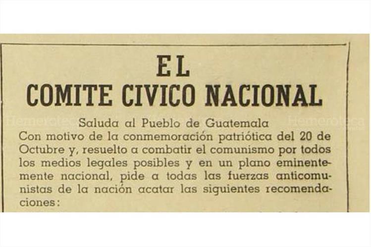Celebración del décimo aniversario de la Revolución de 1944, en octubre de 1954. (Foto: Hemeroteca PL)