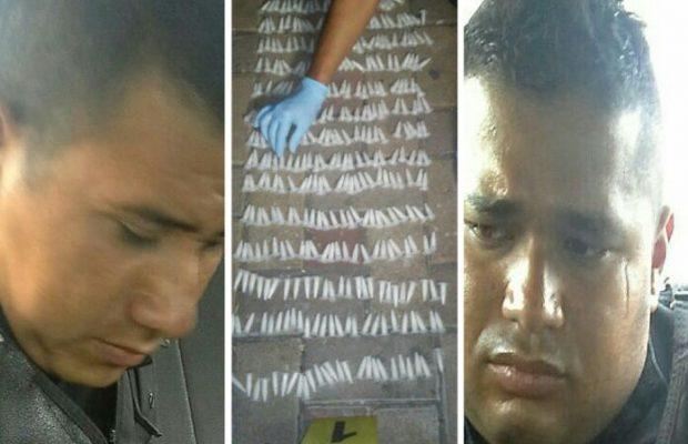 Exagentes de la PNC fueron condenados por comercio y tráfico de droga. (Foto Prensa Libre: PNC)