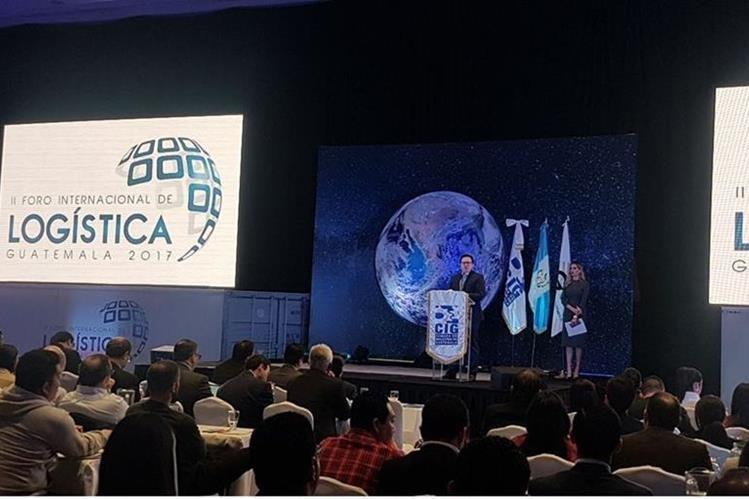 Durante el II Foro Internacional de Logística Guatemala 2017 indicaron que el 18% del costo total de la mercadería corresponde a costos logísticos. (Foto Prensa Libre: Cortesía CIG)