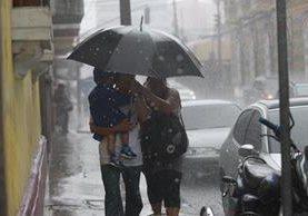Se espera lluvia en las distintas regiones del país en esta semana. (Foto Prensa Libre: Hemeroteca PL)