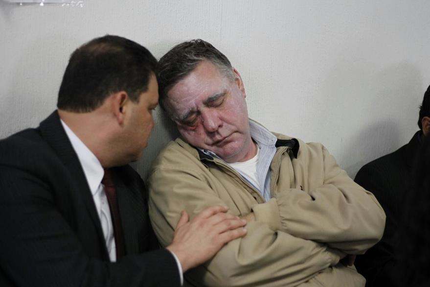 Uri Roitman sufre de hipertensión según sus representantes legales. (Foto Prensa Libre: Paulo Raquec)
