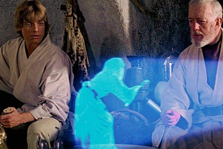 Al estilo Star Wars, Microsoft podrá transmitir con hologramas en directo. (Foto Prensa Libre: HemerotecaPL).