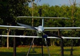 Dron diseñado y fabricado en Guatemala por Aerobots. (Foto Prensa Libre: Cortesía)