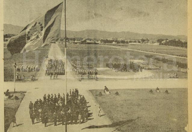 Día del Ejército en el Campo de Marte, 22 de diciembre de 1955. (Foto: Hemeroteca PL)