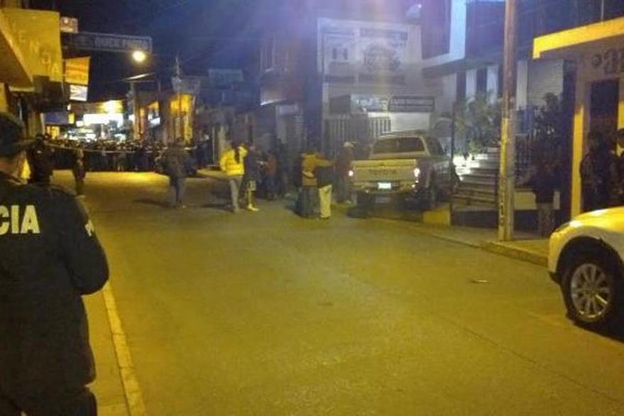 Lugar donde ocurrió el crimen hace tres años en la cabecera de Jalapa. (Foto Prensa Libre: Hemeroteca PL).