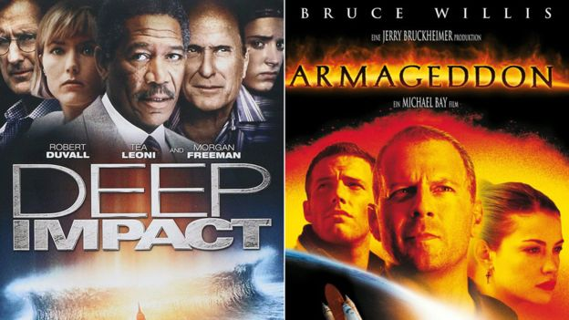 """""""Impacto profundo"""" y """"Armageddon"""" llegaron a las carteleras de cine en mayo y julio de 1998, respectivamente. PARAMOUNT/TOUCHSTONE"""