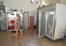 Cocina del Hospital Nacional de Retalhuleu luce vacía, debido a la escasez de alimentos. (Foto Prensa Libre: Jorge Tizol).
