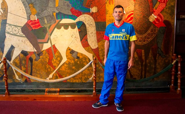 Francisco Colorado, del equipo Canel´s Specialized de México, es favorito a ganar la Vuelta a Guatemala. (Foto Prensa Libre: Norvin Mendoza)