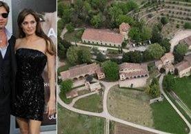 En la mansión de la Provenza francesa con más de una treintena de habitaciones y una finca de 500 hectáreas en la que la familia Jolie-Pitt solía disfrutar de sus vacaciones. (Foto Prensa Libre: image.excite.es)
