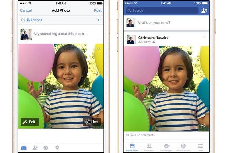 Los nuevos iPhone incluyen la función de convertir imágenes en videos cortos (Foto Prensa Libre: AP).