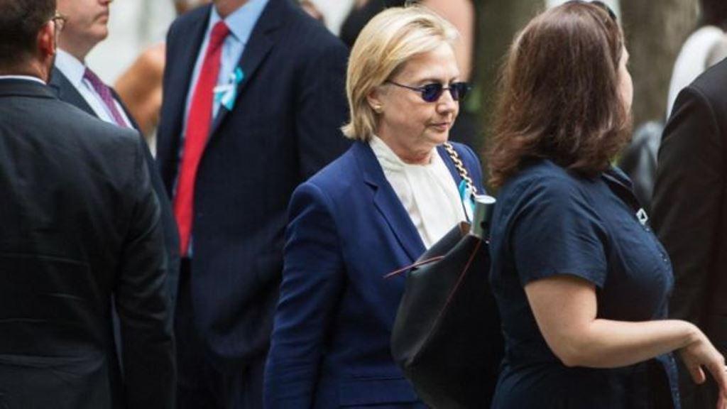 En medio de la campaña presidencial de EE.UU., Hillary Clinton fue a una ceremonia conmemorativa de los atentados del 11 de septiembre con neumonía. (GETTY IMAGES)