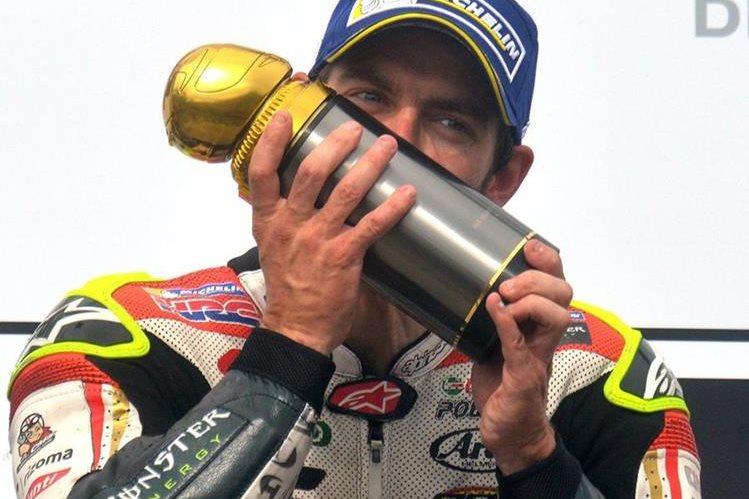 Crutchlow hizo historia en el Moto GP de República Checa. (Foto Prensa Libre: AFP)