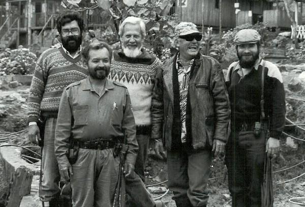 Fotografía tomada en los años 80 de otro grupo de fundadores de las Farc.