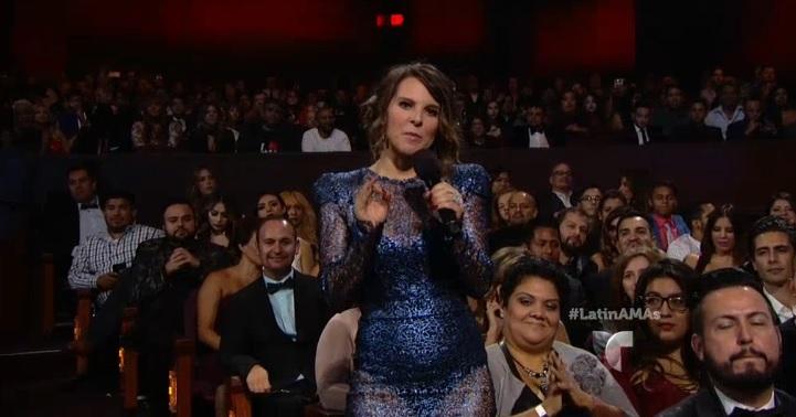 La mexicana Kate Del Castillo se hizo presente en los Latin AMA