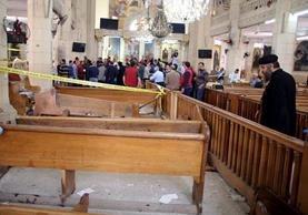 Explosión en El Cairo ocurrió cuando decenas de personas presenciaban un culto por el Domingo de Ramos. EFE/EPA/KHALED ELFIQI