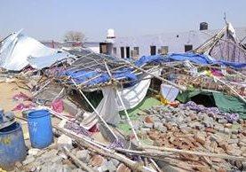 Bharatpur, India, donde una boda terminó en tragedia por un derrumbe. (Fot Prensa Libre: AP)