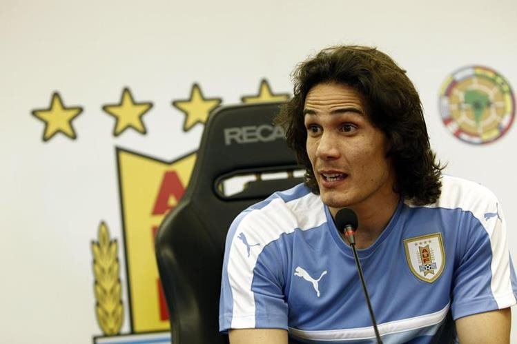 Edison Cavani es uno de los referentes ofensivos de Uruguay. (Foto Prensa Libre: AFP)