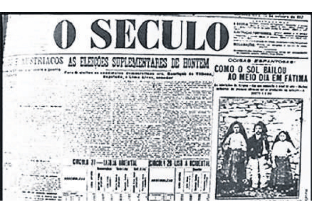 El diario portugués O Seculo tenía una orientación anticlerical y fue uno de los que publicaron los acontecimientos del 13 de octubre de 1917 en Fátima. (Foto: Hemeroteca PL)