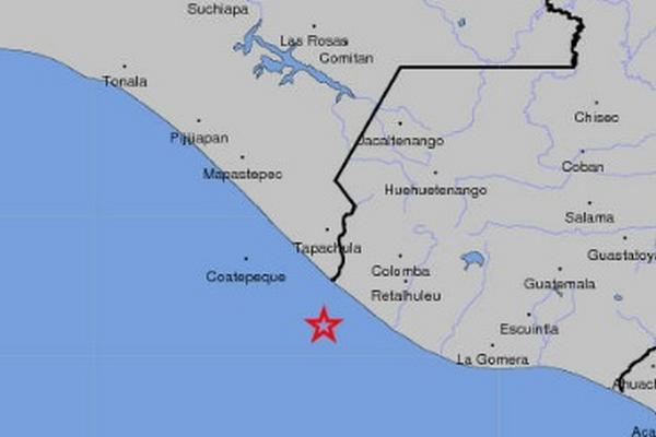 <p>Sismo se registró en la costa de de San Marcos. (Foto cortesía del Usgs)</p>