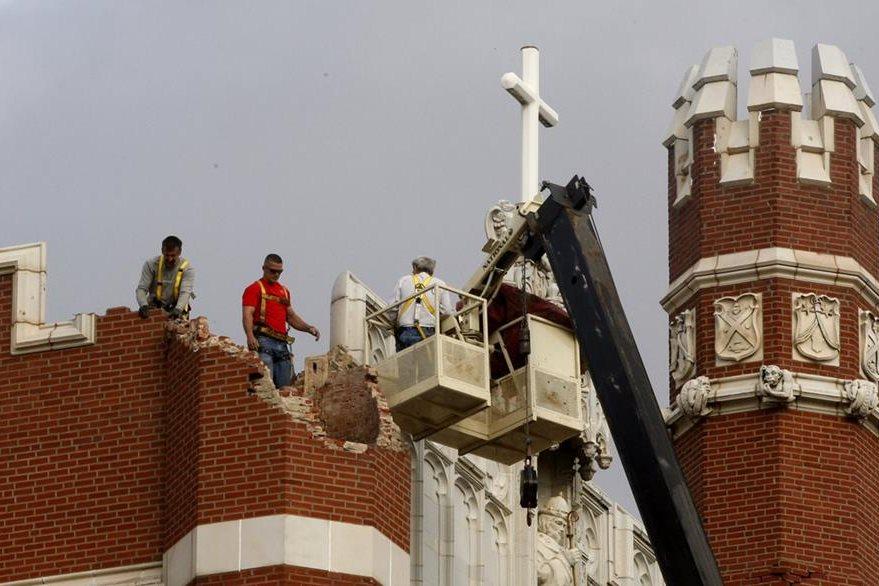 En años anteriores sismos dañaron la Universidad de San Gregorio. (Foto Prensa Libre: AP).