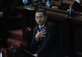 El presidente Jimmy Morales tiene la potestad de aprobar o vetar las reformas aprobadas por el Congreso. (Foto Prensa Libre: Hemeroteca PL)