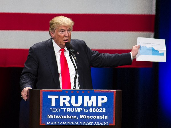 Donald Trump como virtual candidato presidencial republicano a la Casa Blanca.(Foto Prensa Libre:AFP).