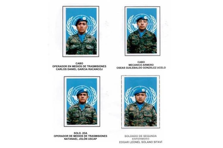 Cuatro soldados guatemaltecos fueron heridos en el Congo, donde integran la misión de estabilización que dirige la Organización de las Naciones Unidas. (Foto Prensa Libre: Ejército)