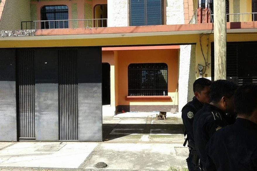 Fuerzas de seguridad efectúan operativos en la zona 1 de Mazatenango, donde fue liberada una mujer secuestrada. (Foto Prensa Libre)