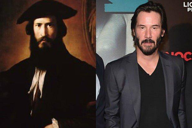 En el sitio keanuisinmortal.com existen varios collages de fotografías antiguas comparadas con el actor. (Foto Prensa Libre: The Wrap).