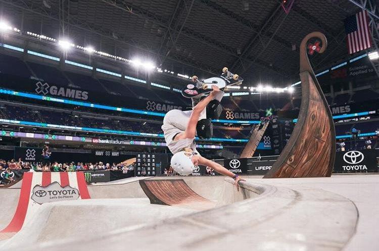 Poppy Starr Olsen compite en sus segundos juegos. (Foto Prensa Libre: X Games)