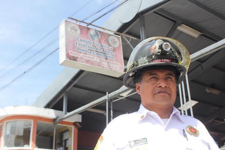 El Campo Escuela de los Bomberos Voluntarios de Quetzaltenango es dirigido por el mayor Ricardo Rojas. (Foto Prensa Libre: Fred Rivera)