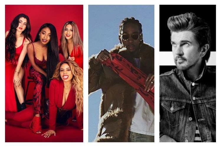 El grupo femenino internacional Fifth Harmony, el rapero estadounidense Wiz Khalifa y el cantante colombiano Juanes son parte de los 47 artistas y bandas que se presentarán en el EMF 2017 en Guatemala. (Foto: Hemeroteca PL).