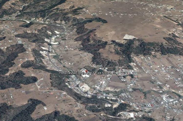 Ubicación del accidente de un autobús en la cabecera de Totonicapán. (Foto Prensa Libre: Google Earth)