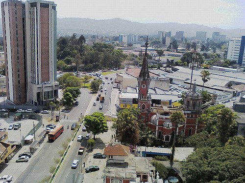 Vista de un sector de la zona 4 capitalina (Foto Prensa Libre: flickr Gerson Pérez).