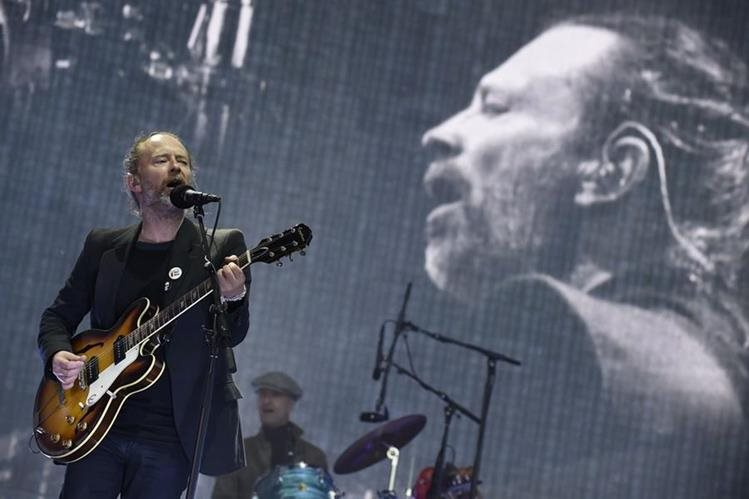 Thom Yorke, vocalista de una Radiohead nominada al Salón del Rock (Foto Prensa Libre: AFP).