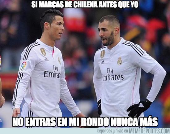 Cristiano y Benzema no se escapan de los memes. (Foto Prensa Libre: Twitter MemeDeportes)