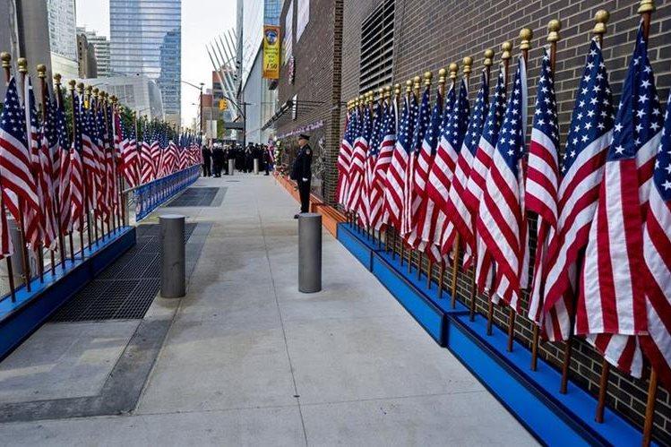 Nueva York conmemora los 15 años de atentado contra torres gemelas. (Foto Prensa Libre: AFP)
