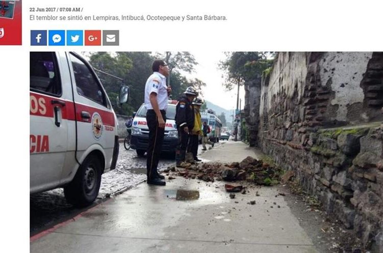 La Prensa, de Honduras, reportó daños menores.